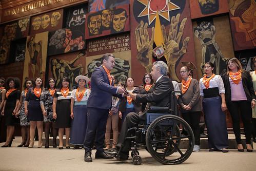 24 de agosto de 2017 - Lenín Moreno entrega a la Asamblea Nacional el Proyecto de Ley Contra la Violencia de Género