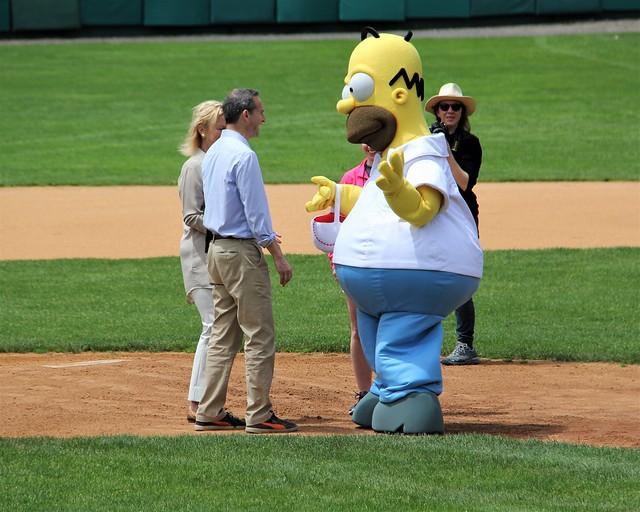 Homer delivers the baseballs