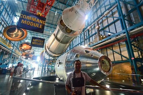 Saturno V y el módulo de mando