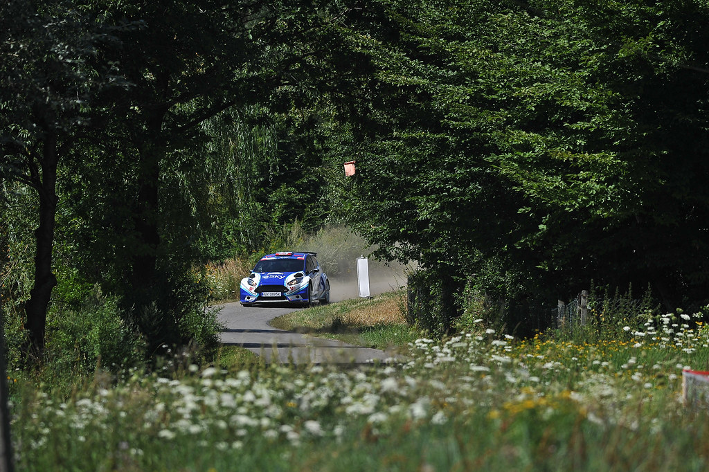 17 HABAJ Lukasz (POL) DYMURSKI Daniel (POL) Ford Fiesta R5 action during the 2017 European Rally Championship Rally Rzeszowski in Poland from August 4 to 6 - Photo Wilfried Marcon / DPPI