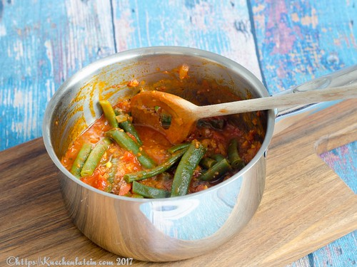 French beans with tomatoes (2)