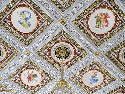 Le plafond de la salle du Konzerthaus de Berlin