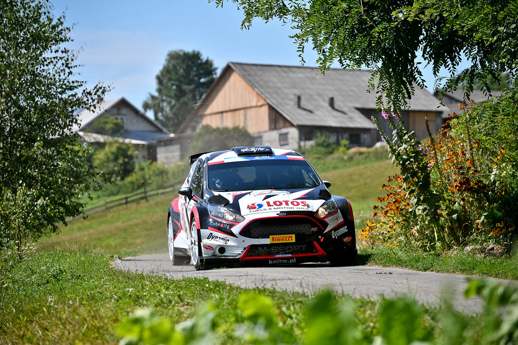 02 KAJETANOWICZ Kajetan (POL) BARAN Jaroslaw (POL) Ford Fiesta R5 action during the 2017 European Rally Championship Rally Rzeszowski in Poland from August 4 to 6 - Photo Wilfried Marcon / DPPI