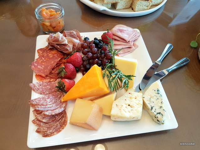 Cheese and cured meats platter