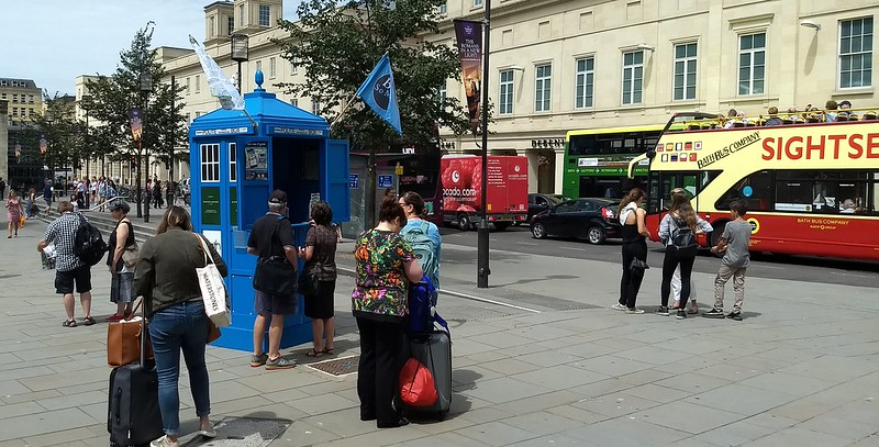 Polite Box - information booth in Bath