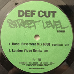 DEF CUT:STREET LEVEL REMIX(LABEL SIDE-A)