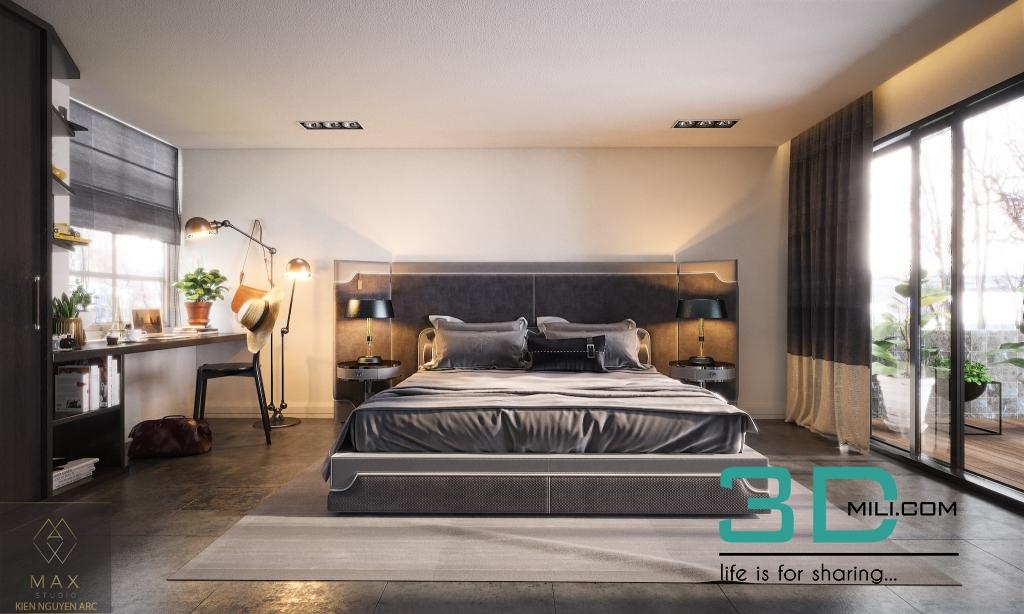 BED ROOM BEAUTYFUL bY Kien Nguyen - 3D Mili - Download 3D