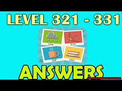 Pictoword Level 321 - 331 All Answers Walkthrough - Bug6d