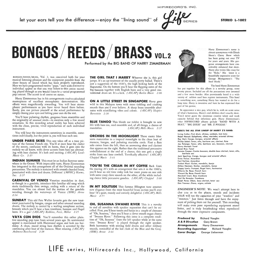 Harry Zimmerman - Bongos / Reeds / Brass Vol. 2