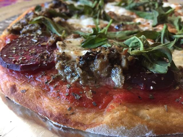 Beets/Sardine Pizza