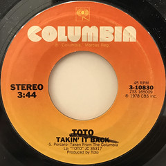 TOTO:HOLD THE LINE(LABEL SIDE-B)