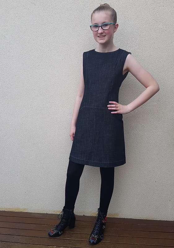 Lekala T4001 dress in denim from Rathdowne Fabrics