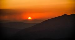 Mount Pindos sunset