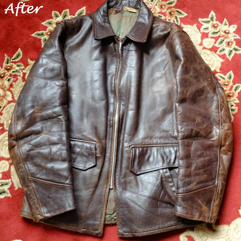 Restoring 1940s leather jacket @porceelinasworld