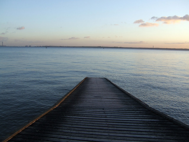 Sunset over the Thames Estuary from Canvey Island