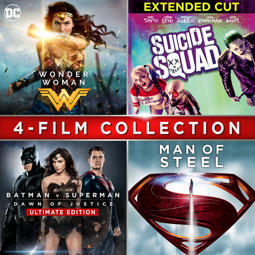 Wonder Woman + Suicide Squad Extended Cut + Batman v Superman: Dawn of Justice Ultimate Edition + Man of Steel Bundle