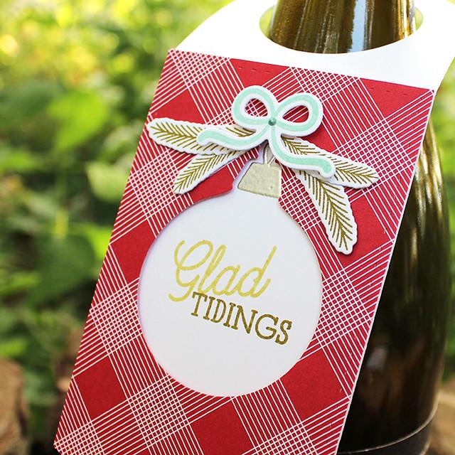 Glad Tidings Wine Bottle Tag 2