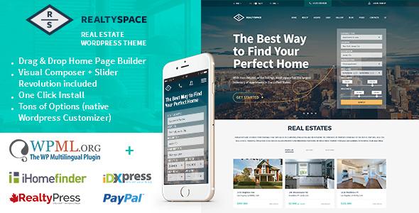 Realtyspace v1.4.15 – Real estate WordPress Theme