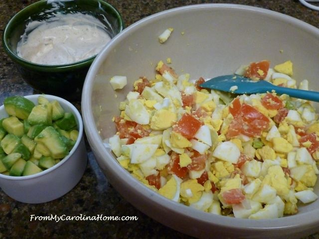 Chipotle Avocado Egg Salad at From My Carolina Home