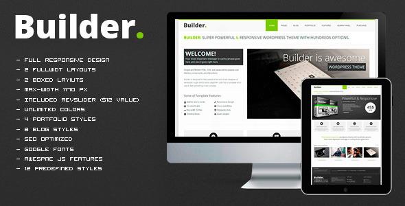 BUILDER v1.1 – Responsive HTML Template