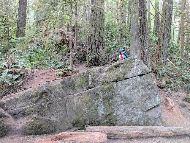 Twin Falls 3 - Benji on a Rock