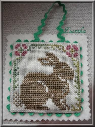 woodland samplings , prairie schooler, cross stitch, bunny