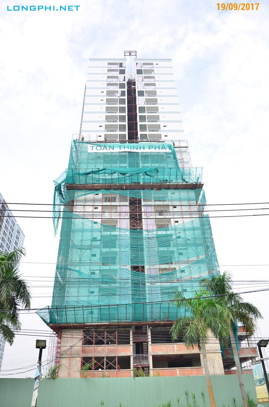 Mặt bên tháp Bắc M1 Jamona Aprtment - Luxury Home từ đường Đào Trí.