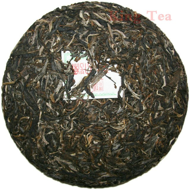 Free Shipping 2011 ChenSheng Beeng Cake Bing Yi Hao 400g YunNan MengHai Organic Pu'er Raw Tea Sheng Cha Weight Loss Slim Beauty