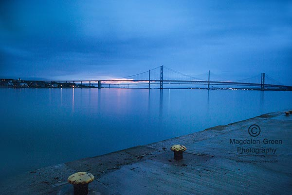 Forth Road Bridges - Long Exposure  - Pretty Blue -  South Queensferry - Edinburgh - Scotland