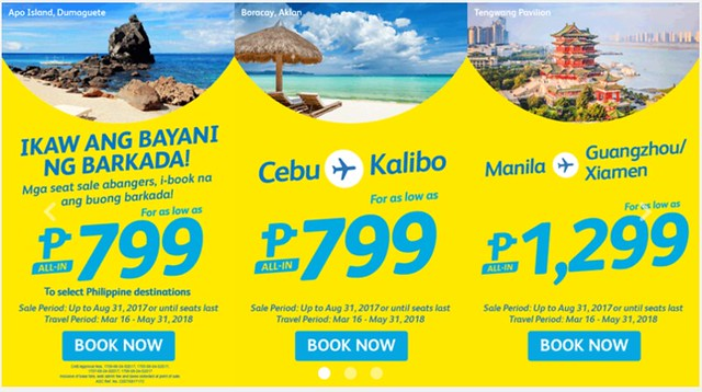Cebu Pacific Air Promo Buong Barkada Php799