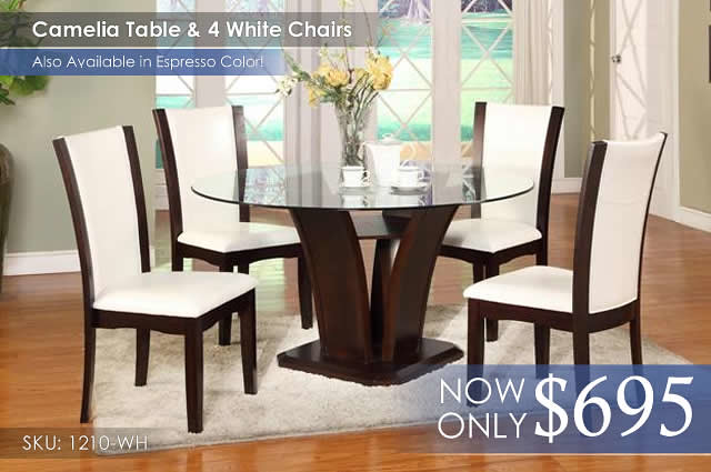 Camelia White Dining Set 1210-54[1]