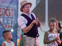 Virginia Beach - beachstreetusa oceanfront entertainment circus in the park 15th street stage  clowns balloons