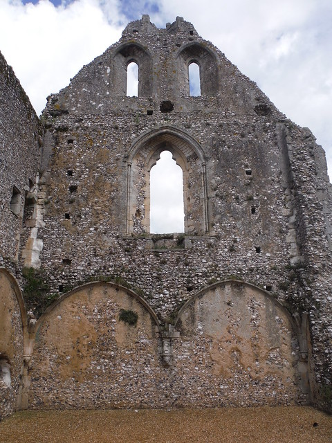 Interior of Boxgrove Priory's Guest House Ruins