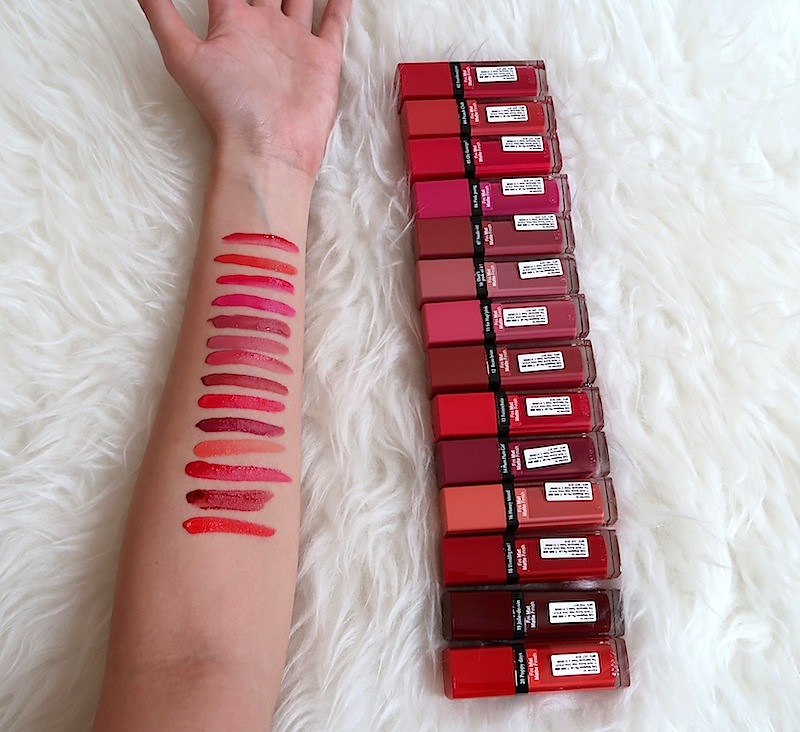 Swatches of Bourjois Rouge Velvet 2