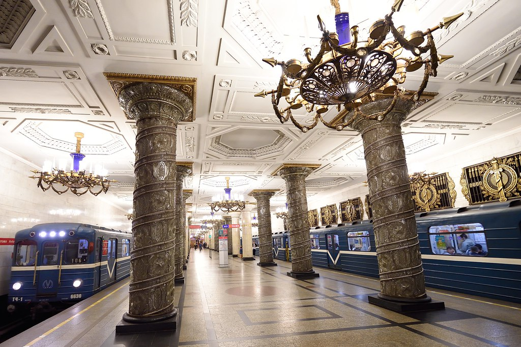 best metro stations in Spb