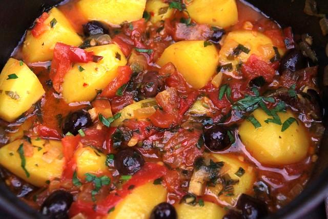 Spaanse aardappelstoofpot...