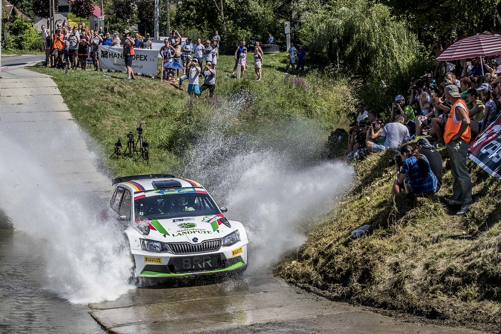 07 GRIEBEL Marijan (DEU) KOPCZYK Stefan (DEU) Skoda Fabia R5 action during the 2017 European Rally Championship Rally Rzeszowski in Poland from August 4 to 6 - Photo Gregory Lenormand / DPPI