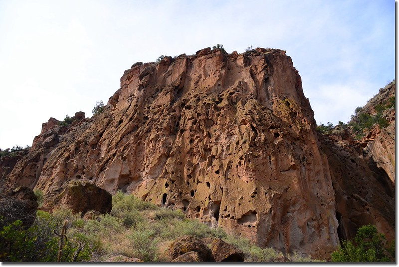 Rocky and rugged landscape at Bandelier National Monument 1