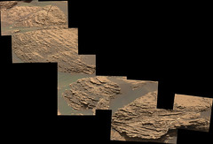 Thinly-Layered Rocks in Gale Crater