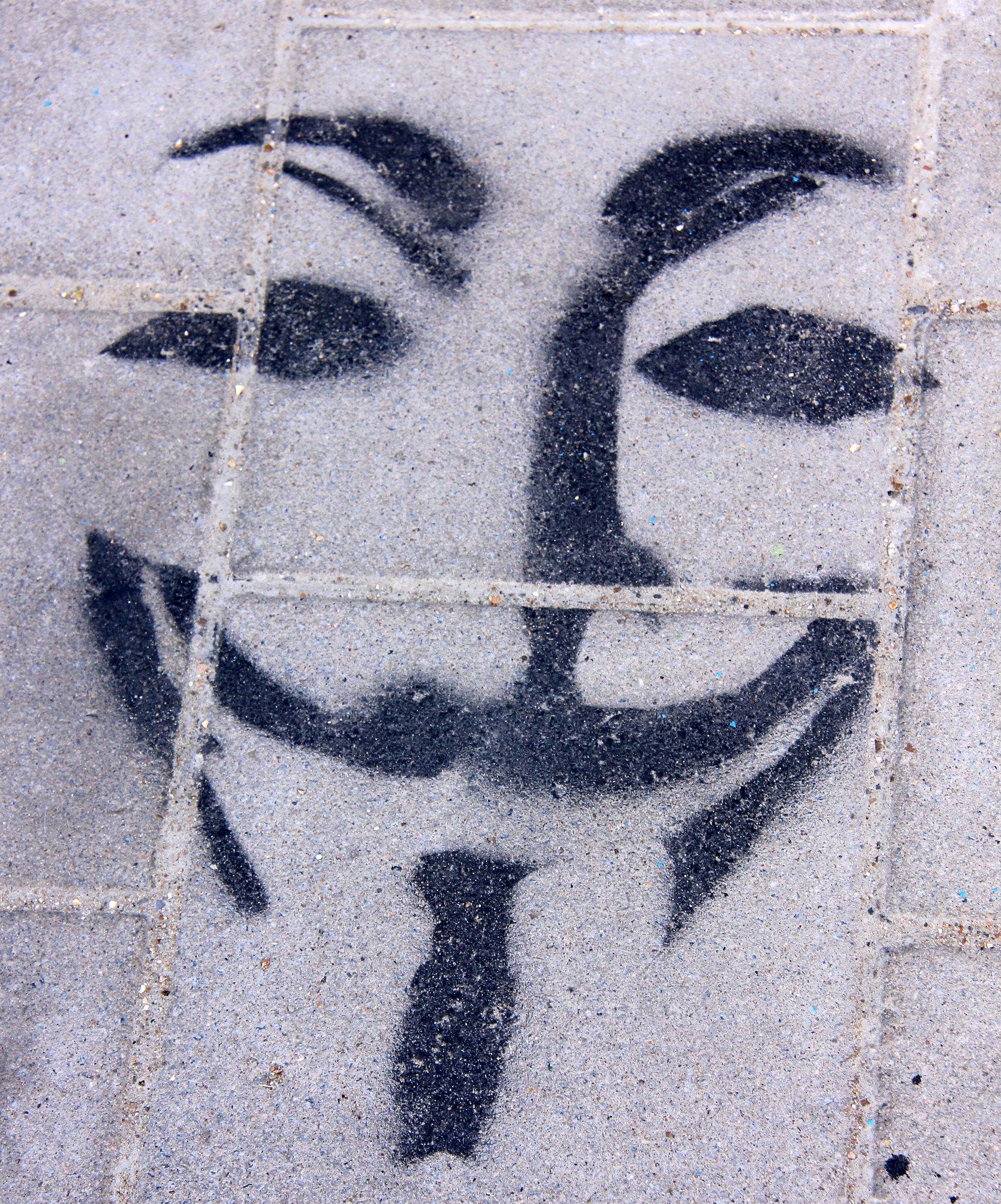 Pavement sprayed with Ghent street art
