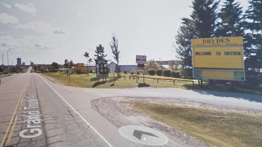 Welcome to Dryden. #ridingthroughwalls #xcanadabikeride #googlestreetview #ontario