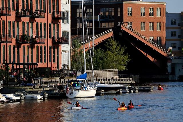 Bridge up at Water Street