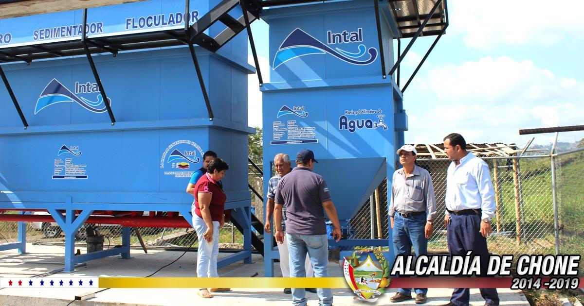 Chibunga y Eloy Alfaro se aprestan a contar con agua potable