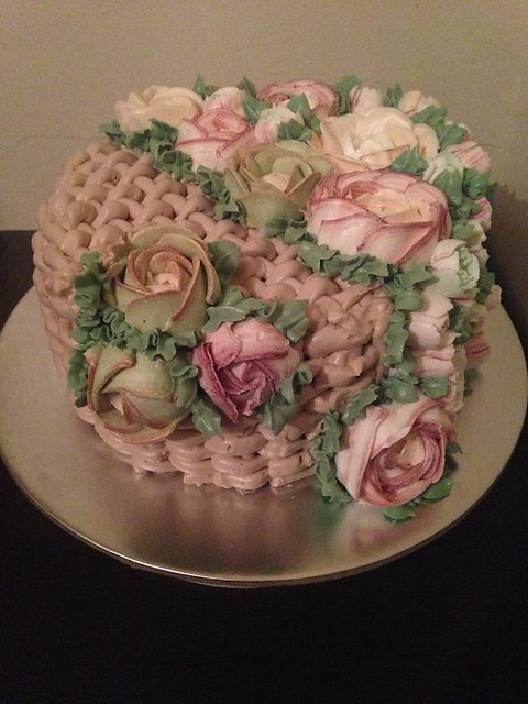 Beautiful Floral Cake by Dea's Cakes
