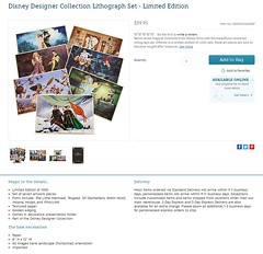 2017 Disney Designer Collection Lithograph Set - Limited Edition - US Disney Store Product Page - Release 2017-09-04