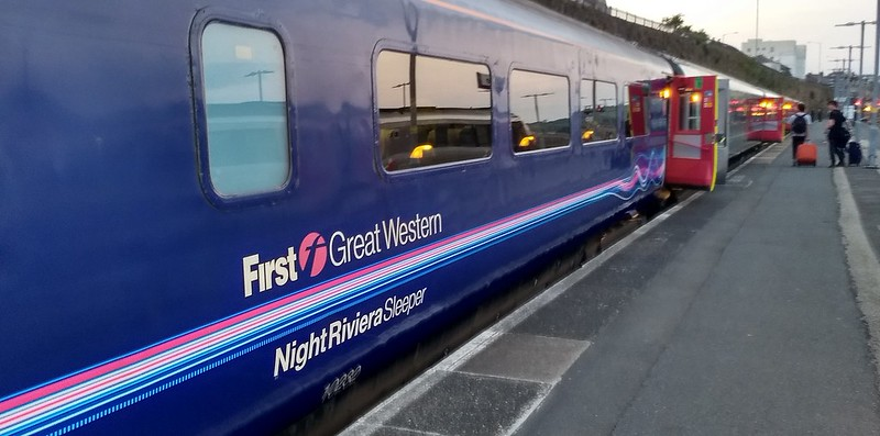 The Night Riviera sleeper train at Penzance