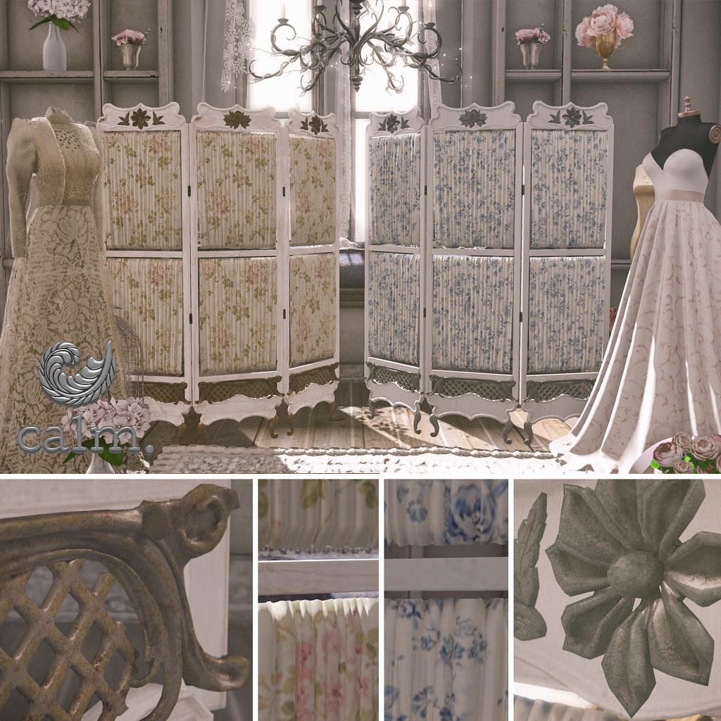 Calm. Bridal Screens - Trunk Show - SecondLifeHub.com