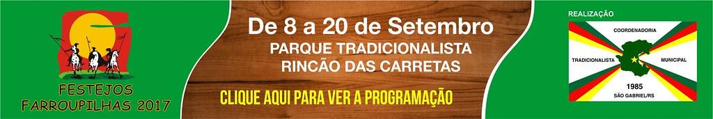 Festejos Farroupilhas de São Gabriel - Clique aqui para ver a programação