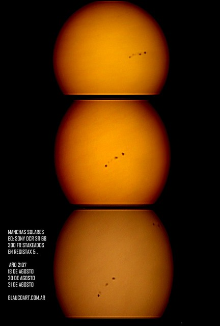 SUNSPOTS 18 ,20 , 21 AG 2017 G
