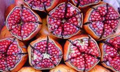 Close-up of pomegranate fruits
